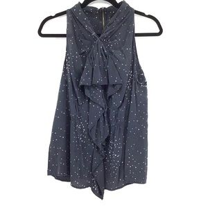 Central Park West   Silk Starry Night Top
